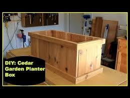 diy cedar garden planter box youtube