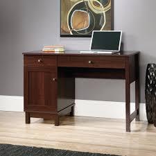 Shoal Creek Desk In Jamocha Wood sauder shoal creek writing laptop desk with hutch hayneedle