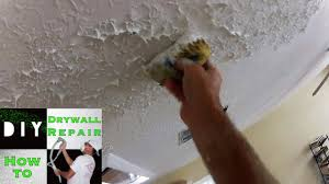 Popcorn Ceiling Patch Amazon by How To Use A Sponge To Match Knockdown Texture 2 Tape Joint