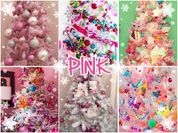 Xmas Christmas Tree Inspiration Kawaii Pink Blue December