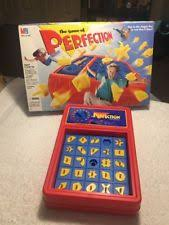 Perfection Board Game 1995 Milton Bradley Vintage With Box Missing Two Pieces