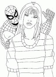 Online Spiderman Coloring Pages Princess