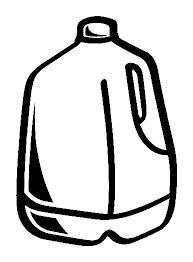 Milk Carton clipart black and white 8