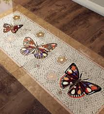 indoor mosaic tile floor marble patterned papillons sicis