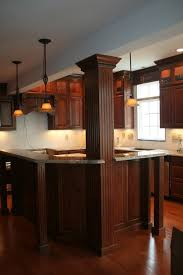 Country Kitchen Islands With Columns