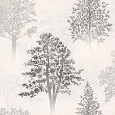 Tree Wall Decor Ebay by Grey Wallpaper Patterned Designs Designs Feature Wall Decor New Ebay