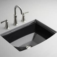 k2355 7 archer undermount style bathroom sink black at