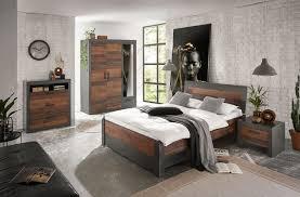 schlafzimmer set loft set 5 teilig 140x200cm matera mix dekor rahmenoptik