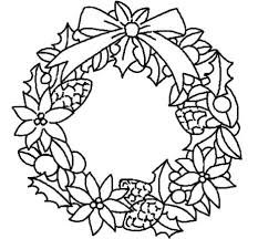 Christmas Wreath Coloring Pages 50
