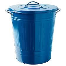 knodd bin with lid blue ikea abfalleimer deckel