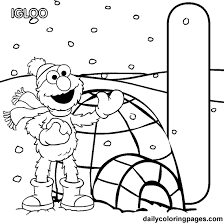 Elmo Printable Coloring Pages Letter I