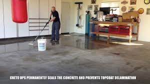 Valspar Garage Floor Coating Kit Instructions by How To Stain And Seal Garage Floor Youtube