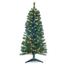 4 Pre Lit Green Noble Pine Christmas Tree