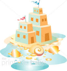 Sand Castle On Beach Clipart