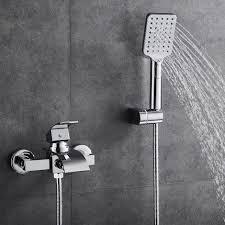 woohse armatur badewanne wasserhahn inkl wandhalterung mit handbrause für bad