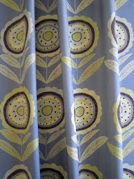 Material For Curtains And Blinds by Daisy Yellow Leaves 68cms Large Grey Linen Floral Fabric For