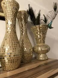 gold vasen 3 stück barock style deko wohnzimmer