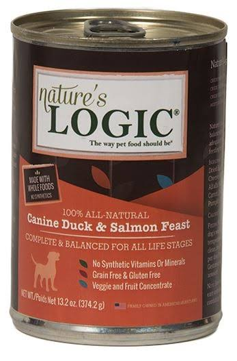 Nature's Logic Dog Food - Duck and Salmon, 374.2g