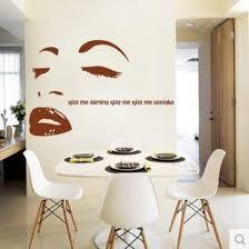 Marilyn Monroe Bedroom Furniture by Marilyn Monroe Wall Stickers Kiss Me Bedroom Wall Sticker
