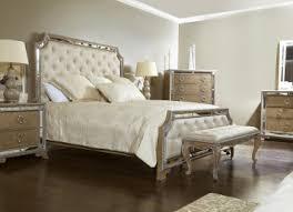 Karissa Button Tufted Upholstered Bedroom Set in Light Wood