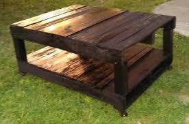 DIY Pallet Black Coffee Table