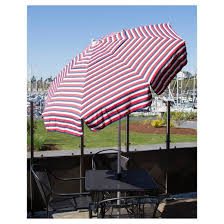 Patio Umbrellas At Target by 6 U0027 Italian Stripe Aluminum Collar Tilt Patio Umbrella Red White