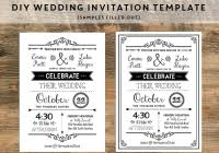 Free Rustic Wedding Invitation Templates Unique Diy Black Samples Filled Out