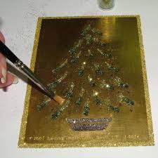 Longest Lasting Christmas Tree by Ekduncan My Fanciful Muse Glitter Art Christmas Tree Using