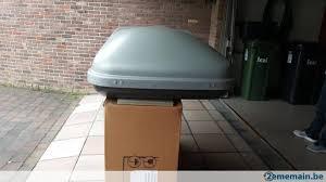 coffre de toit roady coffre de toit hapro roady 350 gris argenté a vendre 2ememain be