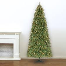 Slim Pre Lit Christmas Tree 75 by 9 Ft Pre Lit Slim Willow Pine Artificial Christmas Tree Clear