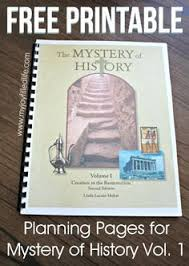 FREE Printable Planning Pages For Mystery Of History Vol 1