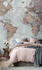 Wall Mural Decals Amazon by Wall Ideas World Map Wall Mural Decal World Map Wall Mural Vinyl