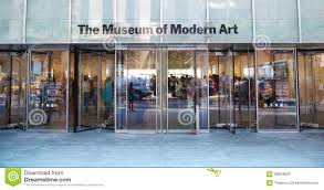 moma entrance in new york editorial image image of states 58824830