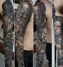 Tattoo Sleeve Greek 11 Attractive God On Full TB102