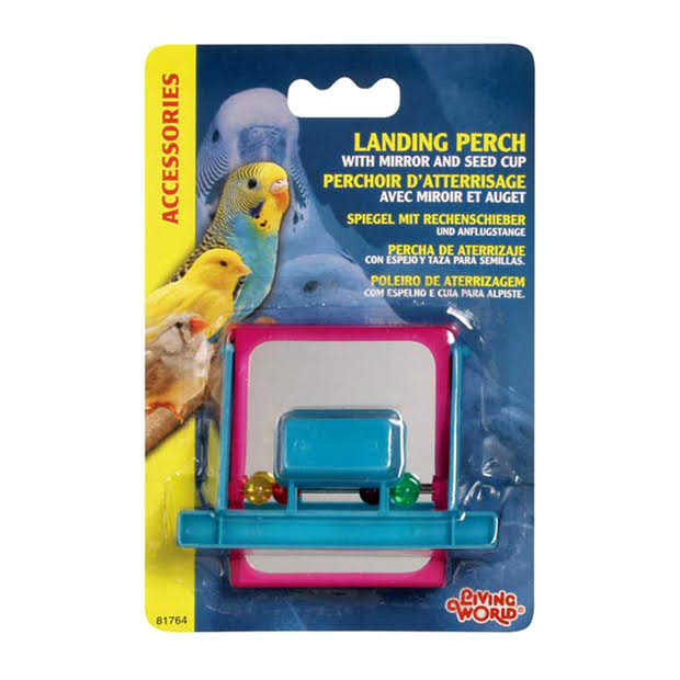 Living World Landing Perch - with Mirror