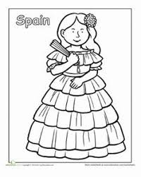 A Coloring Sheet About Traditional Clothing From Around The World Here Is Picture Of