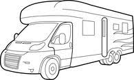 Mini Motor Home Clipart Size 86 Kb From Recreational Vehicle