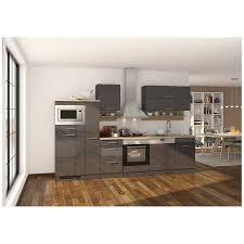 küche grau 310 cm maranello 03 inklusive e geräte anthrazit hochglanz