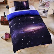 3D Galaxy Bedding Sets US Twin Full Queen King Size 3pcs Universe