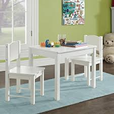 Kid's Table And 2 Chairs Set Solid Hard Wood Sturdy Child Table And ...