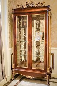 vitrine glas schrank wohnzimmer schaufenster 2türige vitrinen barock rokoko e70