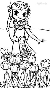 Zelda Coloring Pages Beautiful