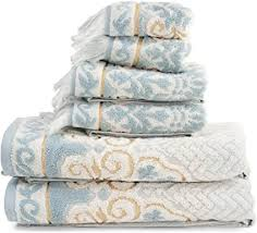 beau monde badezimmer handtuch set 6 pc ganz filigran floral