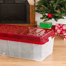 Iris Tree Storage Box With Compartment Lid Red Home Kitchen Jpg 1500x1500 Rubbermaid Container Christmas