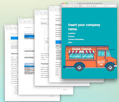 Food Truck Business Plan Template Sample Pages - Black Box Business ...