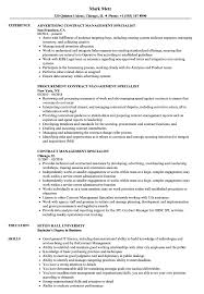 Download Contract Management Specialist Resume Sample As Image File