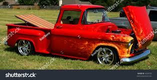 100 Low Rider Truck Red Rider Custom Flames Stock Photo Edit Now 4559755