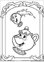 Beauty And The Beast Coloring Page 4