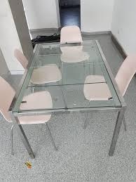 ikea glivarp glas esstisch ausziehbar
