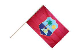 West Indies Flag Hand Waving